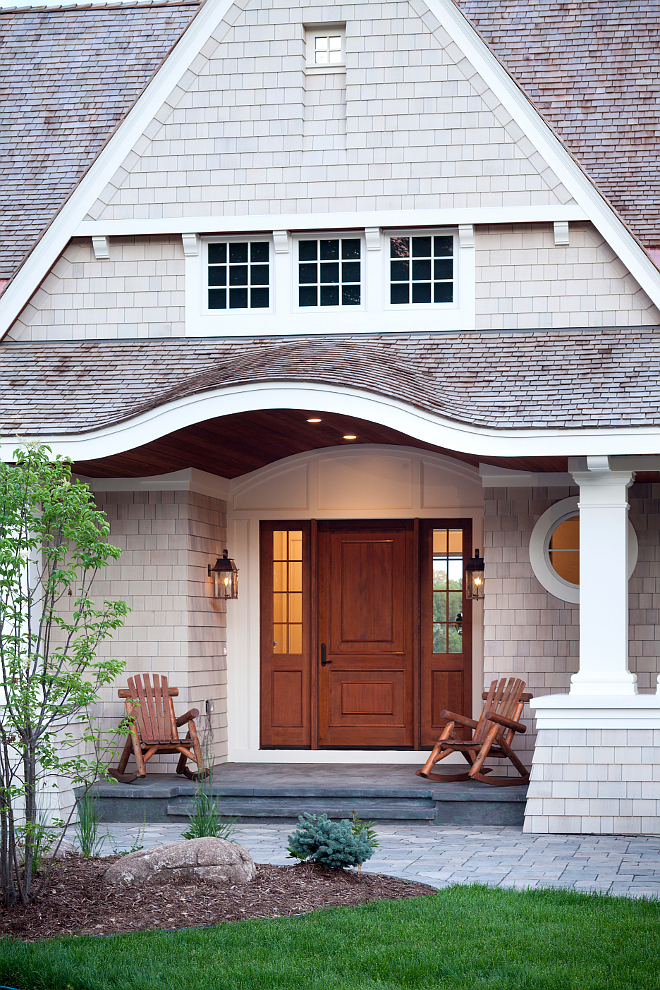 Porch portico. Shingle home porch. #porch #home #frontporch #porches #porch Vivid Interior Design. Hendel Homes