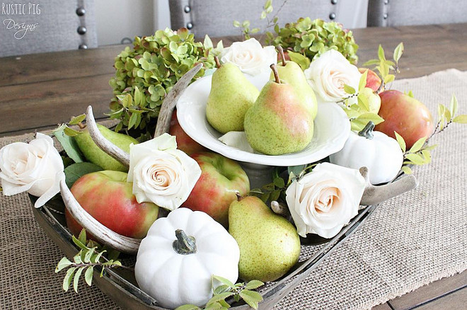 fall-decor-fruits-and-pumpkins-table-center-piece-rustic-pig-designs