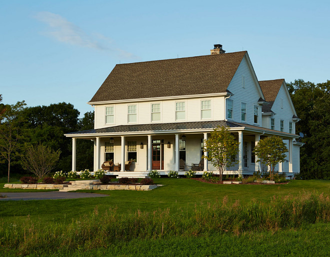 Classic Farmhouse Exterior. This classic farmhouse has about 5,000 sf and has 5 bedrooms and 5 baths. farmhouse Classic Farmhouse Exterior #ClassicFarmhouse #ClassicFarmhouseExterior Hendel Homes