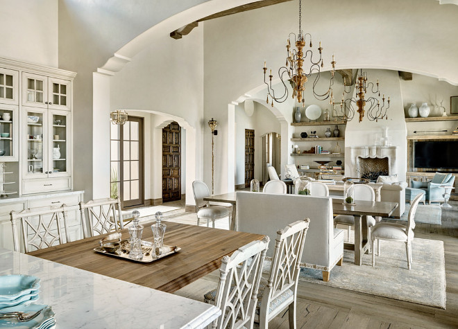 French Interiors. Open layout French Interiors. Open floor plan French Interiors. Open spaces French Interior ideas. #FrenchInteriors DuChateau Floors Kim Scodro Interiors