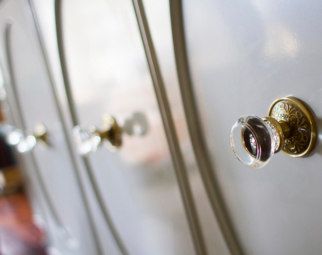 Glass and brass knobs. The buffet hardware is from Emtek. glass-and-brass-knobs-glassknobs-brassknobs-home-bunch-beautiful-homes-of-instagram-bluegraygal