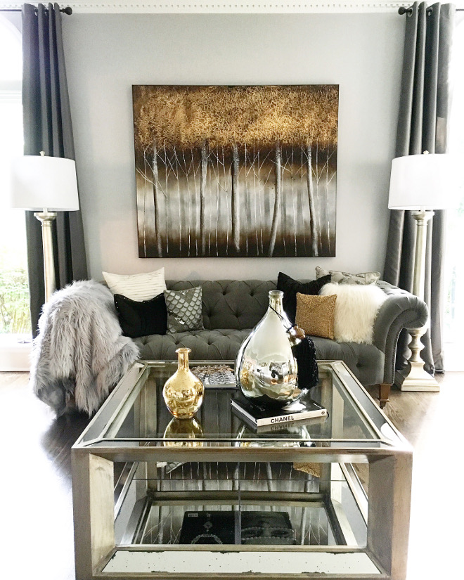 Grey Living room. Transitional Living room. Grey Transitional Living room. Grey Transitional Living room decor and furniture. #livingroom #greylivingroom #TransitionalLivingroom