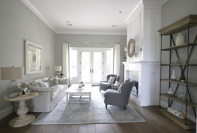 Grey living room. If you like white and grey together, chances are that you will love this neutral living room. #whiteandgreyinteriors #greylivingroom grey-living-room Eye for the Pretty