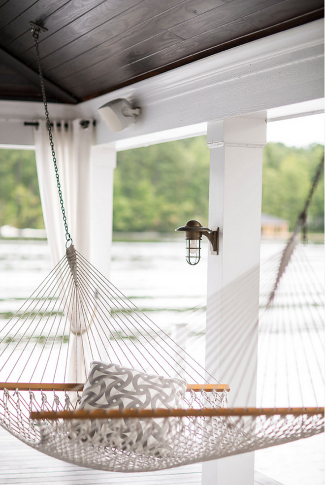 Hammock. Porch Hammock Ideas. #Hammock #Porch #Hammocks Heather Garrett Design