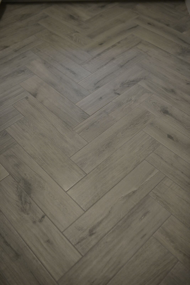 "Hardwood look floor tile. Floors are a porcelain tile called Angel Gray in 6""x24"". #hardwoodtile #hardwoodtiling hardwood-floor-tile-hardwood-tiling Eye for the Pretty"