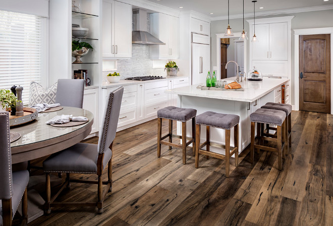 Kitchen Flooring. Kitchen hardwood flooring is Provenza, line is Pompeii and color is Ischia. Kitchen Flooring. Kitchen Flooring #KitchenFlooring #Kitchen #Flooring kitchen-flooring #kitchenhardwoodflooring #kitchen #hardwoodflooring Tracy Lynn Studio