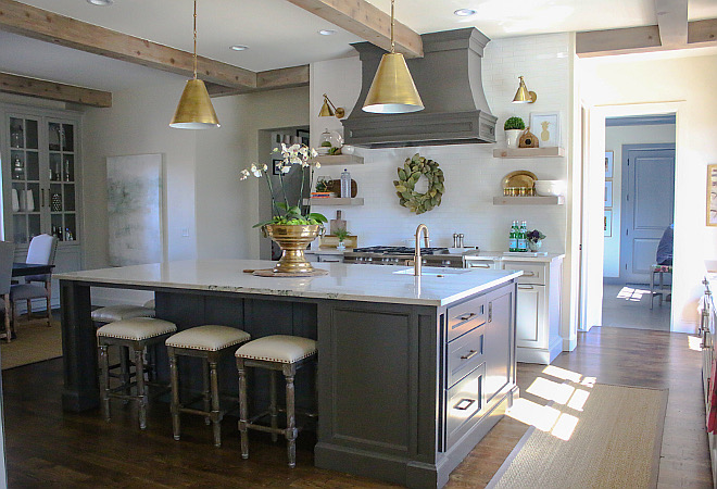 "Island Dimensions. Kitchen island size. Island Dimensions. Kitchen island size ideas. Island Dimensions. Kitchen island size is 110 x 64"". #Kitchenislandsize #IslandDimensions #Kitchen #island Home Bunch's Beautiful Homes of Instagram curlsandcashmere"