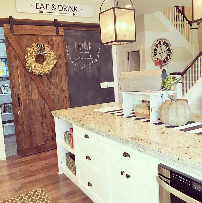 kitchen-pantry-barn-door-and-chalk-wall-yellowprairieinteriors-via-instagram