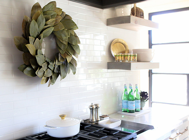 Daltile Modern Field Tile 2x8 in Arctic White. White subway backsplash tile is Daltile Modern Field Tile 2x8 in Arctic White. #Daltile #Modern #Field #Tile #2x8 #ArcticWhite Home Bunch's Beautiful Homes of Instagram curlsandcashmere
