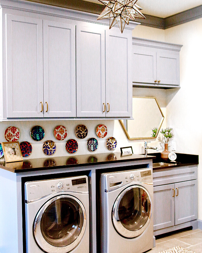 Laundry room countertop. Laundry room countertop is Countertop is Black honed granite. #laundryroom #countertop #Countertop #Blackhonedgranite laundry-room-countertop Home Bunch's Beautiful Homes of Instagram curlsandcashmere