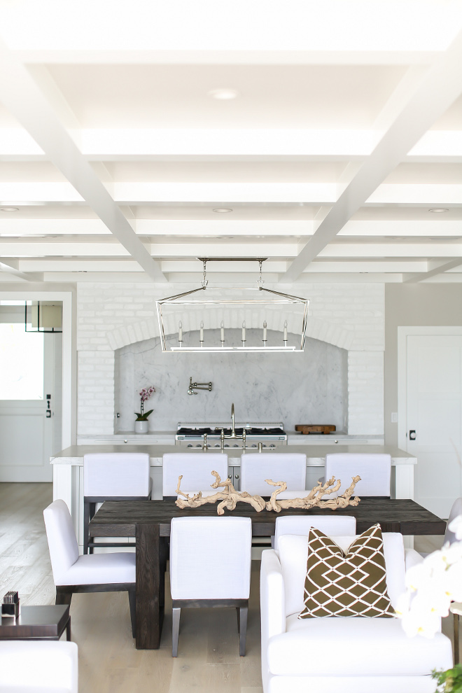 "Coffered Ceiling. Kitchne ceiling coffered ceiling treatment is MDF box beams with ½"" MDF paneling in the inset #kitchen #cofferedceiling #mdfbox #paneling #coffered #ceiling Winkle Custom Homes. Melissa Morgan Design. Ryan Garvin Photography"