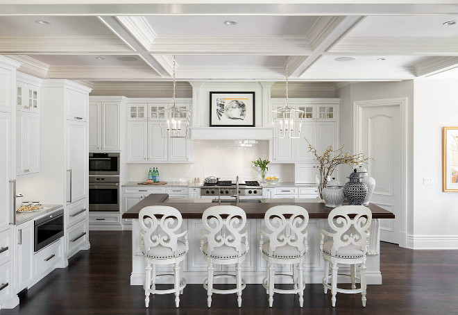 Kitchen coffered ceiling. Kitchen coffered ceiling. White Kitchen coffered ceiling. #Kitchencofferedceiling #kitchen cofferedceiling  Luxe Kitchens & Interiors.