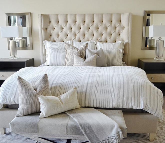 Neutral Bedroom. Neutral Bedroom Bedding. Neutral Bedroom Decor. Neutral Bedroom Paint Color. Neutral Bedroom #NeutralBedroom #bedroom #Neutralbedrooms Sita Montgomery Interiors.