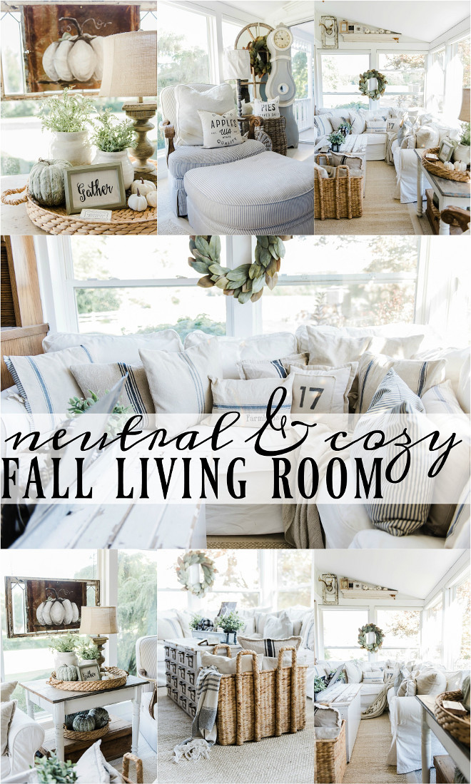 2016 farmhouse fall decorating ideas home bunch interior for Neutral home decor ideas