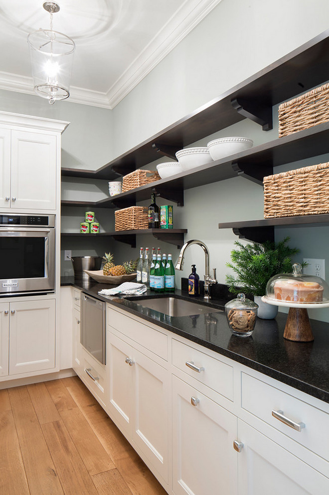 Pantry shelves and cabinets. Butler pantry Pantry shelves and cabinets. pantry-shelves-and-cabinet-ideas #Butlerpantry #Pantry #shelves #cabinet  Hendel Homes.  Vivid Interior Design - Danielle Loven.