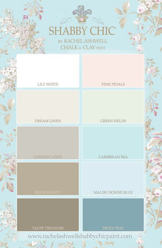 Popular Chalk Paint Colors.