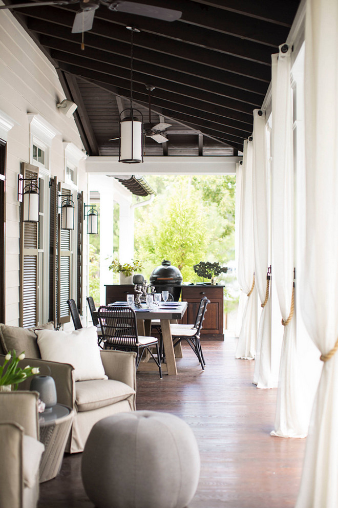 Porch Built in BBQ, Outdoor dining room and outdoor living area. #Outddors #Porch # Patio #Outdoordiningroom #outdoorlivingroom Heather Garrett Design