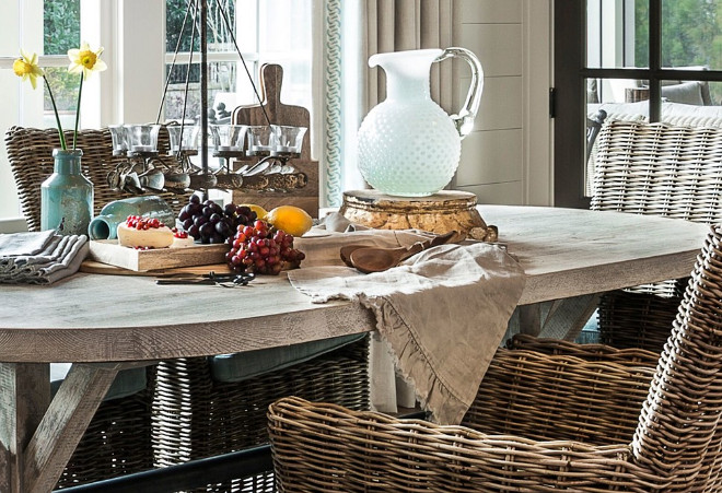 Rustic greywashed table. Farmhouse dining room with Rustic greywashed table. Rustic greywashed table #Rustic #greywashed #table #farmhouse #diningroom