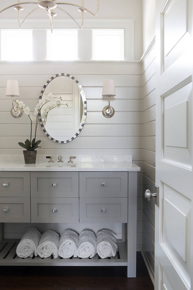 Sherwin Williams Mega Greige SW 703. Grey Paint Color. Sherwin Williams Mega Greige SW 7031. Sherwin Williams Grey Paint Color. Sherwin Williams Mega Greige SW 7031 The vanity is painted Sherwin Williams Mega Greige SW 7031 #SherwinWilliamsMegaGreige #ShewinWilliamsSW7031 Splice Design