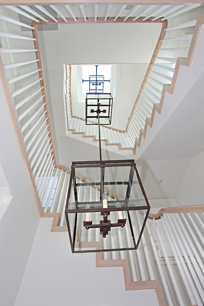 Staircase Lighting. Lighting is custom by Dana Creath. #staircase #lighting #staircaselighting Winkle Custom Homes. Melissa Morgan Design. Ryan Garvin Photography