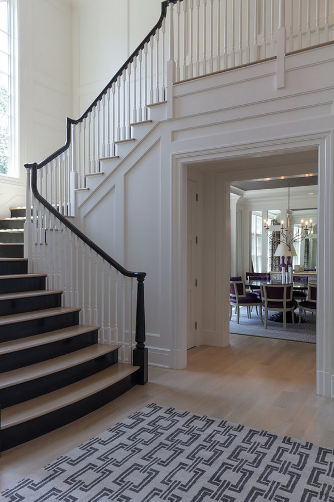 Timeless staircase paneling. #staircasepaneling staircase-paneling Bluewater Home Builders