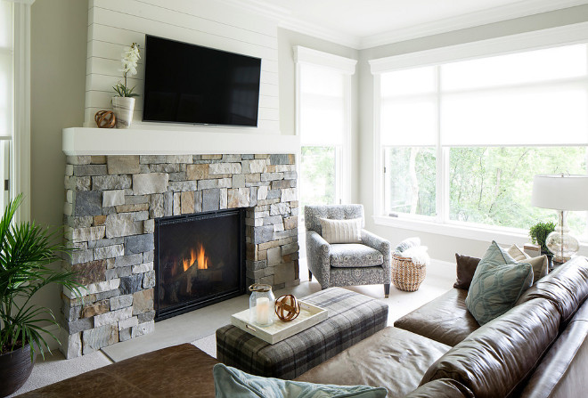 Stone and Shiplap Fireplace. Stone and Shiplap Fireplace. Stone and Shiplap Fireplace Ideas #StoneandShiplapFireplace stone-and-shiplap-fireplace Hendel Homes. Vivid Interior Design - Danielle Loven.