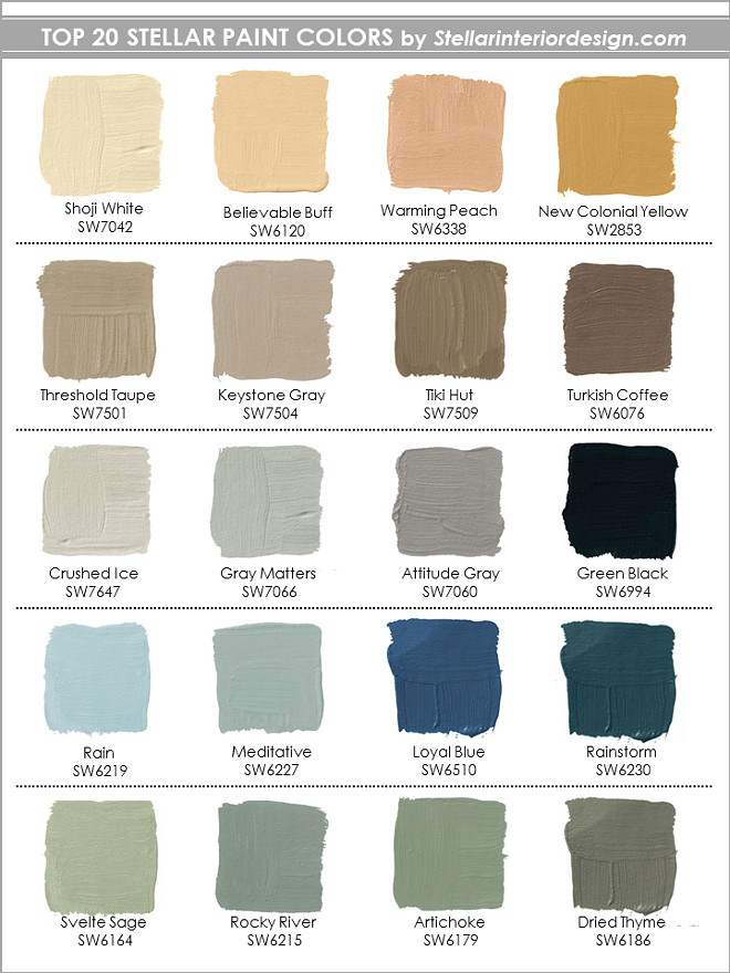 top-20-sherwin-williams-paint-colors