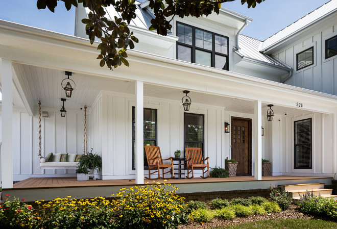 White Exterior Paint Color. White Farmhouse Exterior Paint Color Benjamin Moore OC-17 White Dove. White Farmhouse Exterior Paint Color is similar to Benjamin Moore OC-17 White Dove. #WhiteFarmhouse #whiteExterior #PaintColor #BenjaminMooreOC17WhiteDove J Taylor Designs