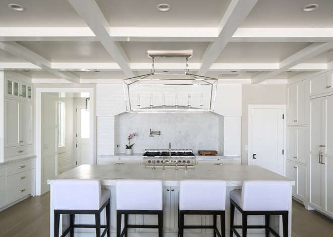 White kitchen coffered ceiling. White kitchen coffered ceiling ideas. White kitchen coffered ceiling. White kitchen coffered ceiling #Whitekitchen #cofferedceiling Winkle Custom Homes. Melissa Morgan Design. Ryan Garvin Photography