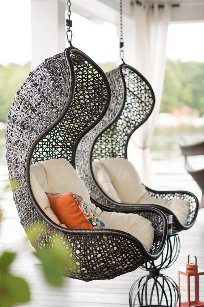 Woven hanging chair. Woven hanging chairs. Porch Woven hanging chairs. Woven hanging chair ideas #Wovenhangingchairs #Wovenhangingchair Heather Garrett Design