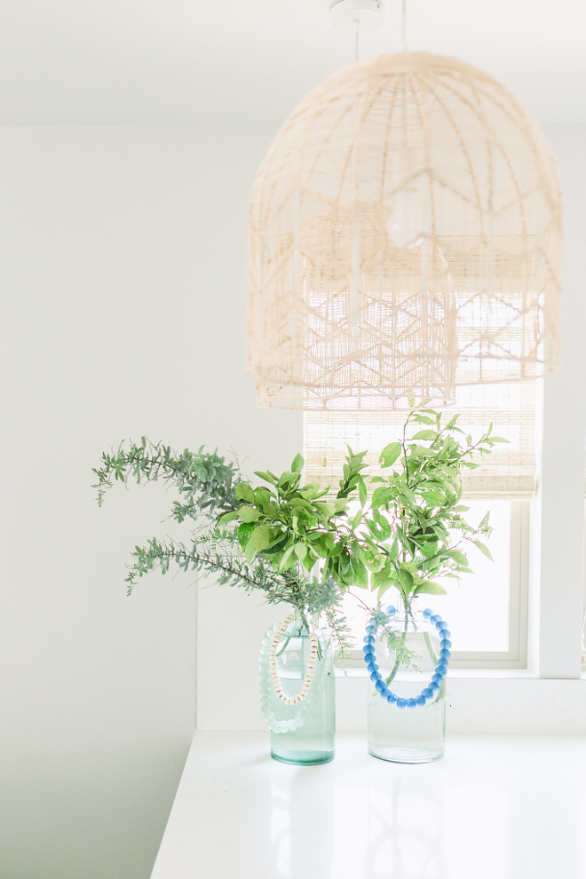 The rattan pendants are Natural Lace Rattan Pendants from Milly + Eugene. rattan-kitchen-light-rattan-kitchen-lighting-woven-kitchen-pendant-lights-the-rattan-pendant-light-are-natural-lace-rattan-pendants-from-milly-eugene #kitchenpendant #rattanlighting #kitchenrattanlight #rattanpendants Pure Salt Interiors