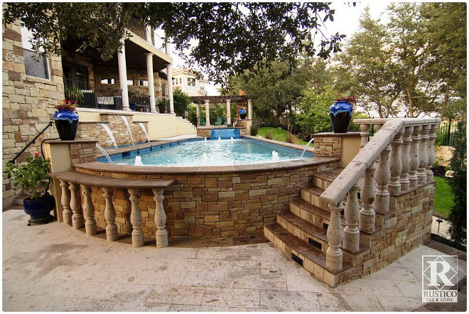 Speaking of patios, if you're craving a touch of Spanish architecture, look no further than authentic Cantera stone. It is derived from volcanic rock in Central America and Mexico, making it the ideal choice for carving. For your outdoor Spanish haven, consider installing a Cantera stone fountain, fireplace, or pillars for a bold statement. Cantera tiles also make a stunning and durable patio floor. Add some potted plants and wrought iron lanterns for rustic appeal.