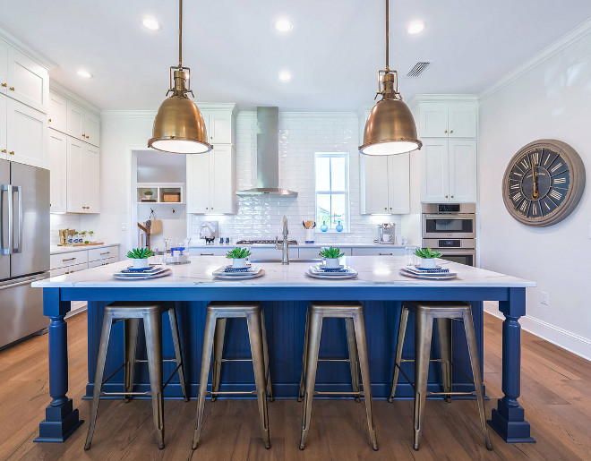 Benjamin Moore HC 154 Hale Navy. Blue kitchen island paint color is Benjamin Moore HC-154 Hale Navy. Benjamin Moore HC 154 Hale Navy. benjamin-moore-hc-154-hale-navy #Bluekitchenisland #paintcolor #BenjaminMooreHC154HaleNavy #BenjaminMooreHC154 #BenjaminMooreHaleNavy #BenjaminMoorepaintcolors Cottage Home Company