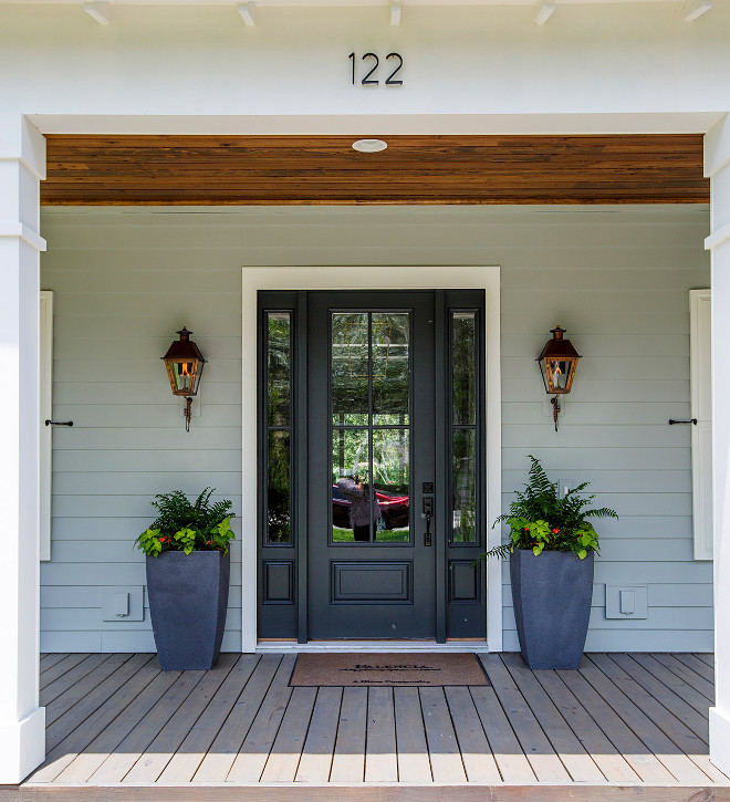 Sherwin Williams Tricorn Black Exterior Paint Color Main Body Is Sw7058 Magnetic