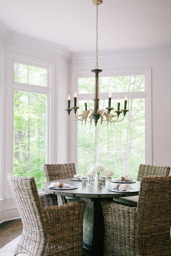 Breakfast room. Wicker chairs in dining area are Furniture Classics available through Outrageous Interiors.