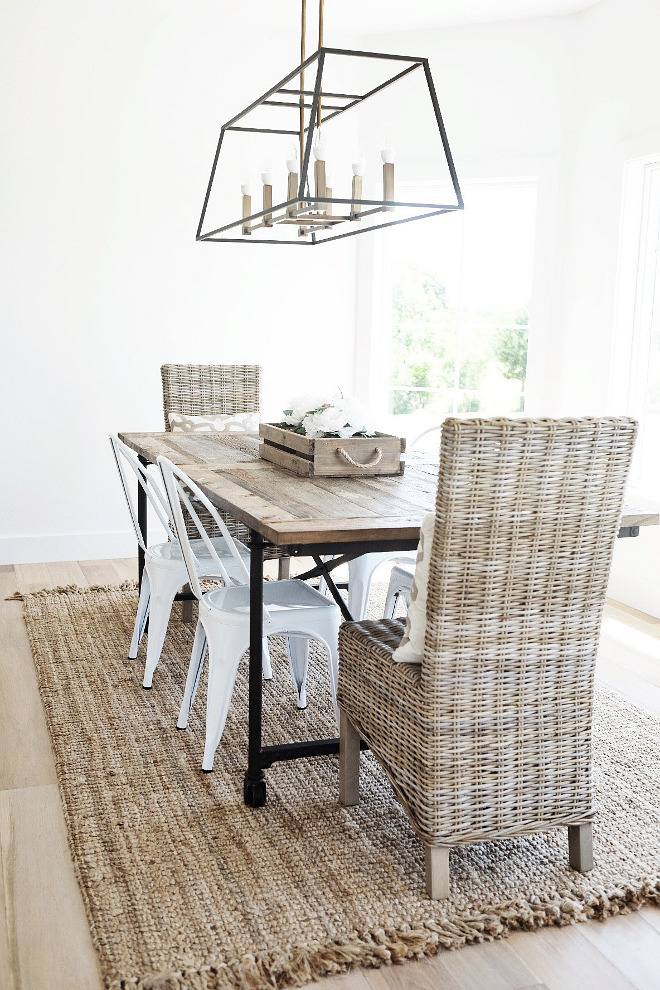 Jute Rug. The jute rug is Maui Chunky Loop Rug from Rugs USA - Color: Natural. #juterug #rug #jute Beautiful Homes of Instagram @nc_homedesign via Home Bunch