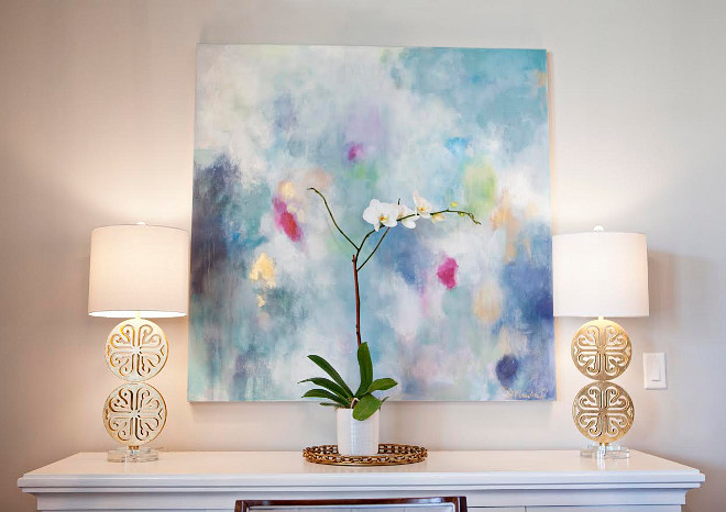 Dining room art. The dining room art is by Sara Kay. dining-room-art #diningroom #art #SarahKay Ivy House Interiors