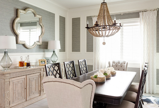 Dining room wall paneling and wallpaper. Dining room wall paneling and wallpaper. Dining room wall paneling and wallpaper #Diningroom #wallpaneling #wallpaper dining-room-wall-paneling-and-wallpaper J & J Design Group, LLC