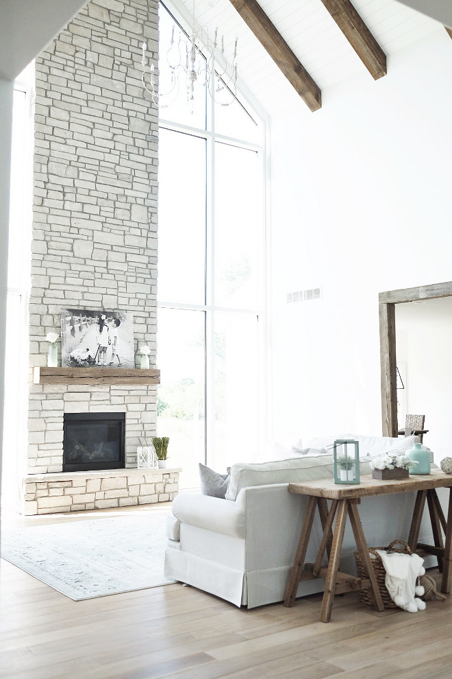 Fireplace stone ideas. Stone fireplace. Fairmont Stone. The fireplace stone is Fairmont Stone. #Fireplace #stone #Stonefireplace #fireplacestoneideas #FairmontStone Beautiful Homes of Instagram @nc_homedesign via Home Bunch