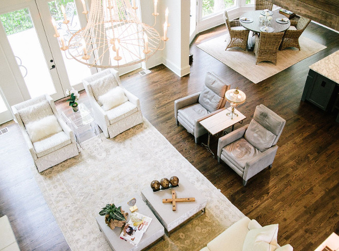 Flooring. The hardwood floors are oak, with a custom stain. #flooring Outrageous Interiors