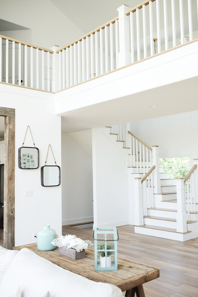 "Sherwin Williams Extra White. White Interior Paint Color: ""Our whole house is pretty much this color - ""Sherwin Williams Extra White"". #SherwinWilliamsExtraWhite #SherwinWilliams #ExtraWhite Beautiful Homes of Instagram @nc_homedesign via Home Bunch"