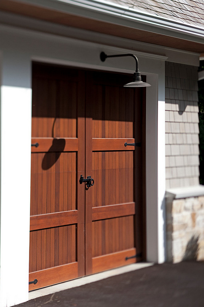 Garage Lighting. Barn lighting. Garage Barn Lighting. The garage lighting is from Barn Light Electric in bronze. #barnlighting #garagelighting garage-door Hendel Homes