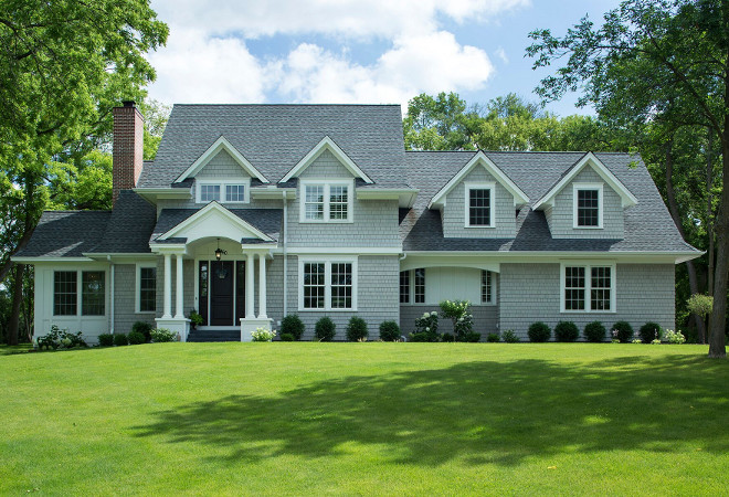 Grey home exterior paint color ideas. Paint color is Thunder by Benjamin Moore. Grey home exterior paint color ideas. Grey home exterior paint color ideas. #Greyhome #exteriorpaintcolor #exteriorpaintcolorideas #Paintcolor #ThunderbyBenjaminMoore Hendel Homes