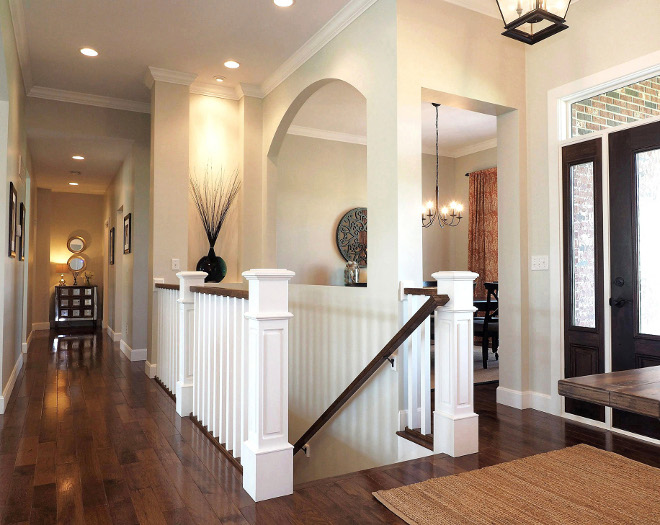 "Flooring. Hardwood flooring. We chose ¾' hardwood flooring with 4"" planks. Manufacturer is Mullican Flooring, style is Muirfield – species & color, Hickory, Provincial. #flooring #hardwoodflooring #hardwood #hickory Home Bunch Beautiful Homes of Instagram wowilovethat"