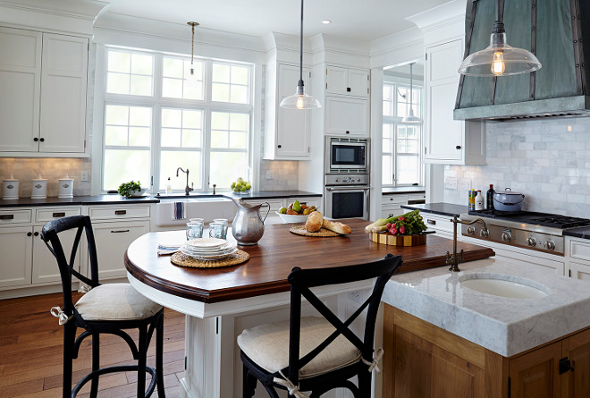 Island Eating Area. Island Eating Area ideas. Island Eating Area. Kitchen island features a prep area with prep sink and an eating area for three. This gorgeous island features Walnut countertop. Island Eating Area #Island #EatingArea island-eating-area Hendel Homes