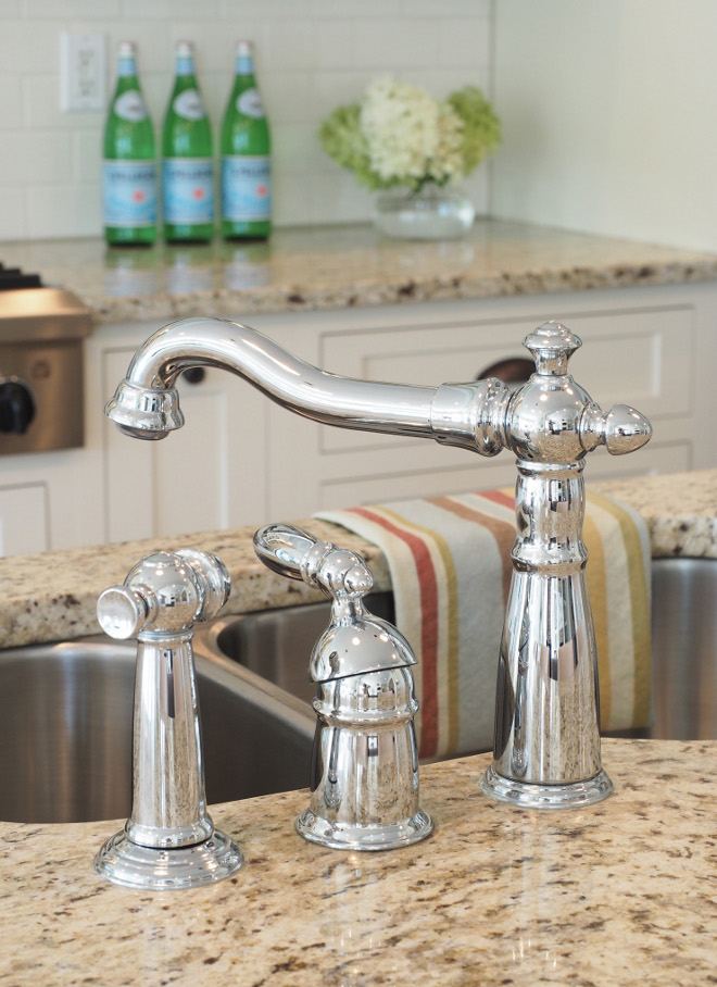 Delta Kitchen Faucet. Faucets in our home are all Delta Victorian style with a chrome finish because I like the shine! #kitchen #faucet #Delta #chrome Home Bunch Beautiful Homes of Instagram wowilovethat