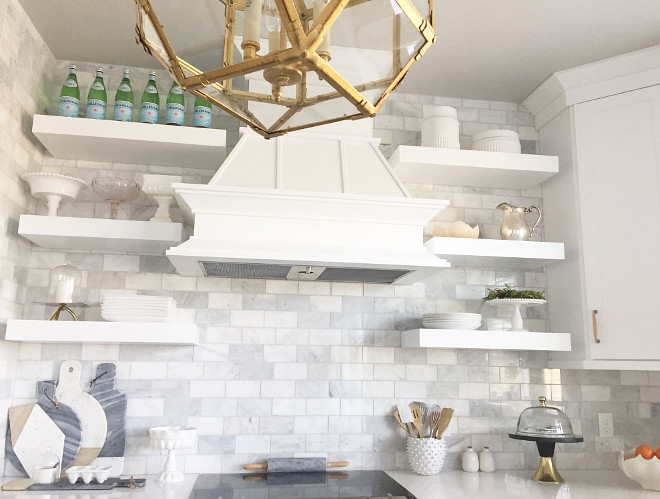 "Kitchen Marble BacksplashTile. Kitchen Backsplash Carrera Marble 3""x6"" tiles. #Kitchen #marble #backsplash #tile #KitchenBacksplash #CarreraMarble #3x6 #backsplashtile Home Bunch's Beautiful Homes of Instagram janscarpino"