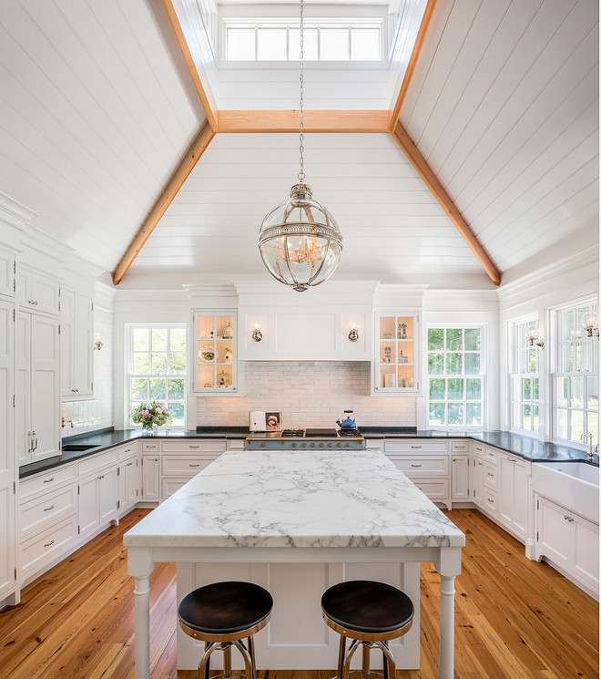 kitchen-skylight. Kitchen skylight. The kitchen countertops are soapstone and marble. #kitchenskylight #kitchen #skylight EC Trethewey Building Contractors, Inc