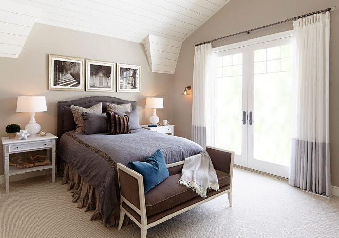 Master Bedroom. Neutral Master Bedroom paint color is Sherwin Williams Anew Gray. Master Bedroom #MasterBedroom #neutral #neutralmasterbedroom #neutralpaintcolor #Sherwinwilliamsanewgray master-bedroom Hendel Homes