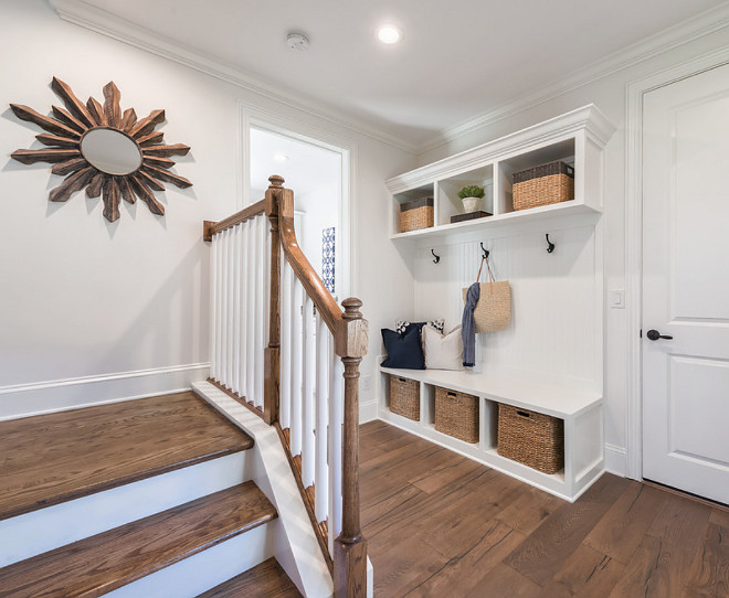 Mudroom Wood Flooring. Mudroom Wood Flooring. Floor is Chesapeake Flooring White Oak, Provence Manor Outback. Mudroom Wood Flooring. #MudroomWoodFlooring #Mudroom #WoodFlooring mudroom-wood-flooring Cottage Home Company